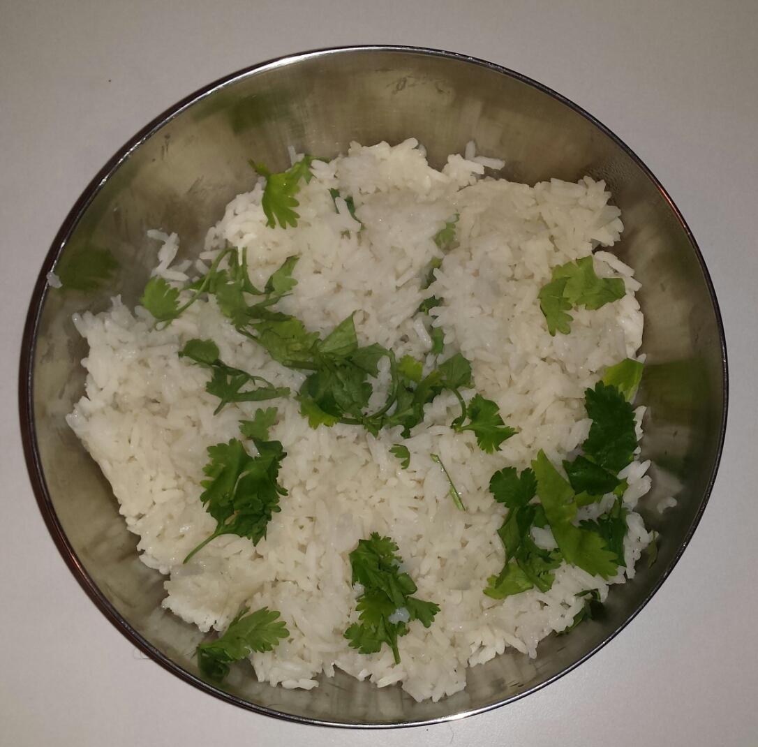 Koriander witte rijst